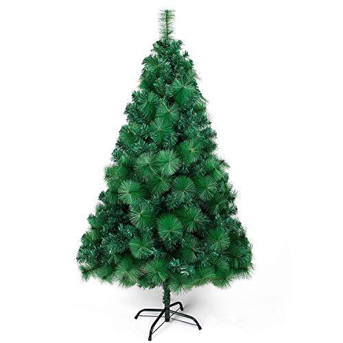 OZAVO Künstlicher Weihnachtsbaum Nadel PVC Christbaum Grün mit Metallständer, Tannenbaum 120 cm 300 Spitzen Baum Weihnachtsdeko Weihnachtstanne Xmas