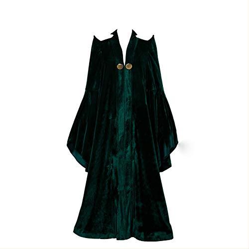 Cosplay Kostüm Kleid Magic Robe Cape Mantel Halloween Karneval Hexe KostümeUmhang-XL (Hexe König Kostüm Tunika)