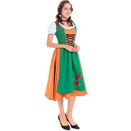 XSH Männliche Und Weibliche Paare, Europäische Und Amerikanische Erwachsene, Oktoberfest, Sexy Dienstmädchenkostüm, Halloween-Uniform, Maskerade,Female,M (Für Halloween-kostüme Einfache 2019 Paare)