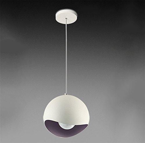 DENGZH Kreativität minimalistischen Kronleuchter Bar Restaurant Schlafzimmer Aluminium LED Eierschale Farbe Anhänger Beleuchtung Lampen, Purple, 30cm -