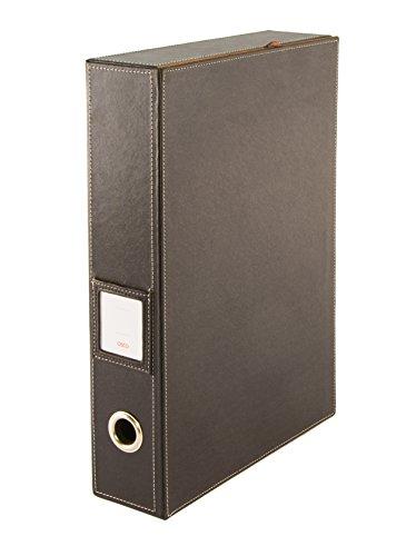 Osco BPUBF1 Luxus Faux Leder, Schreibtischzubehör und Ablage, braun -