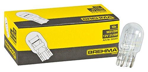 10x BREHMA Glassockellampe W21/5W 12 Volt 21/5 Watt W3x16q