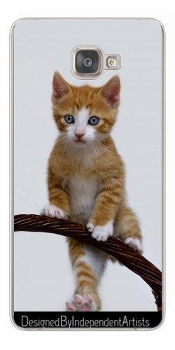 TPU Transparent SilikonHülle für Samsung Galaxy A9 (SM-A9000) - Nette Lustige Katze Kätzchen Klettern by Katho Menden