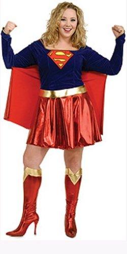 Supergirl Karnevalskostüm große Größe - XL