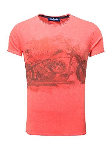 BLUE MONKEY Herren T-Shirt mit Frontprint Bike Style 4 18-1550