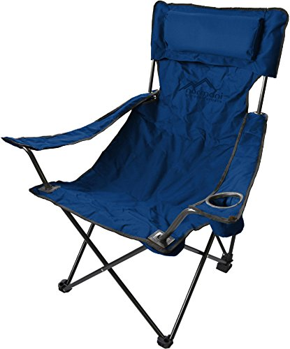 Campingstuhl Faltstuhl Klappstuhl Anglerstuhl Getränkehalter Stuhl Gartenstuhl für den Sommer Farbe Deluxe/Marine (Marine-camping-stuhl)