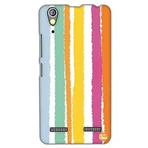 Designer Lenovo A6000 Plus Case Cover Nutcase-Colorful Stripes