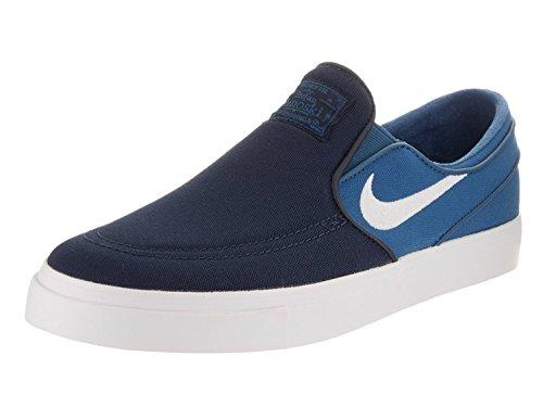Nike M?nner Zoom Stefan Janoski Slip Cnvs Obsidian / Wei? / Industrial Blue Skate Schuh 9 M?nner US (Slip Nike)