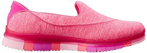 Skechers Go Flex, Baskets Basses Femme, 36 EU Pink (Rose Foncé)