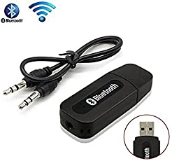 SHOP NOW 3.5mm Bluetooth Stereo Adapter Audio Receiver (Black)