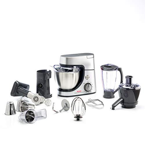 Tefal QB515D - Robot de cocina (4,6 L, Plata, 1,5 L, Acero inoxidable, 1100 W, 424,4 mm)