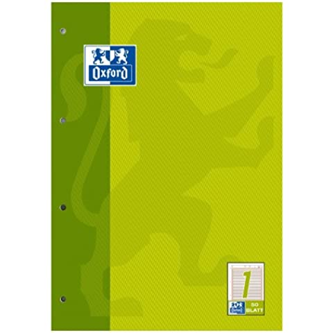 Oxford 100050340 - Quaderno per la scuola, formato A4, rigatura