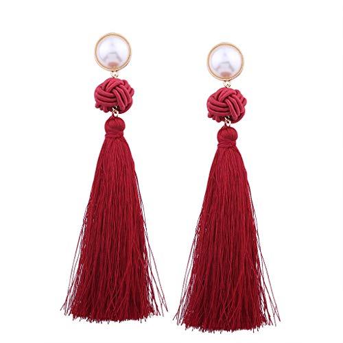 Moda nuovi orecchini personalità nodo cinese nappa orecchini lunghi retrò temperamento selvaggio orecchini donna orecchini gioielli