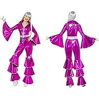 f9f1e0925baf Fancy Dress World – Donna – Dancing Dream Costume da Adulti 70 Disco Fever  Boogie Nights