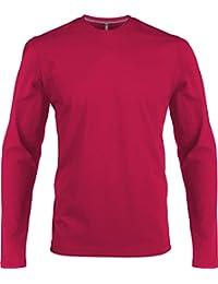 Amazon.es  Rosa - Camisetas de manga larga   Camisetas 2e1531faa7f01