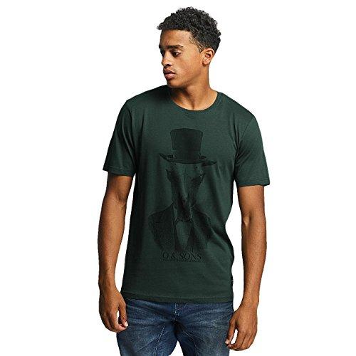Only Onsabraham Slim Ss Tee, T-Shirt Uomo Verde