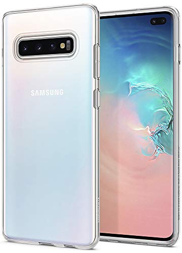 Spigen 606CS25761 Liquid Crystal Kompatibel mit Samsung Galaxy S10 Plus Hülle, Transparent Silikon Handyhülle Schutzhülle Case Crystal Clear