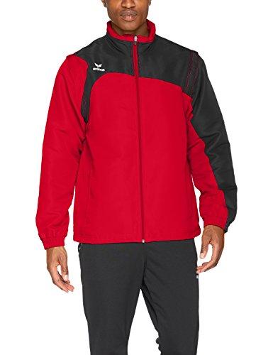 Erima Herren Club 1900 2.0 Jacke, mit Abnehmbaren Ärmeln, rot/schwarz, M - Schwarz-rote Ärmel