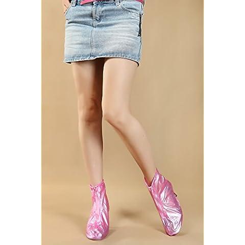 Youzone Rosa Taglia XL riutilizzabili impermeabile e donne ragazze copre scarpe antiscivolo