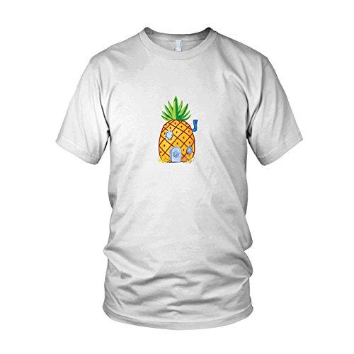 - Herren T-Shirt, Größe: L, Farbe: weiß (Herren-spongebob-kostüm)