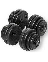 Physionics® Juego de 2 Mancuernas de Fitness de 30 kg (2 x 15 kg