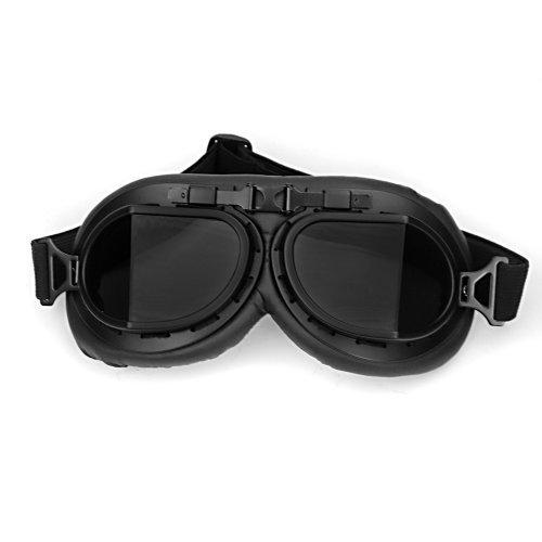 WWII RAF Vintage Pilot Style schwarz Rahmen Café Racer Cruiser Touring Helm Brillen