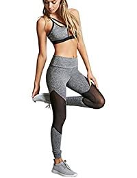 Mujeres Yoga de alta cintura Deportes Fitness Leggings Workout Pants BY HARRYSTORE