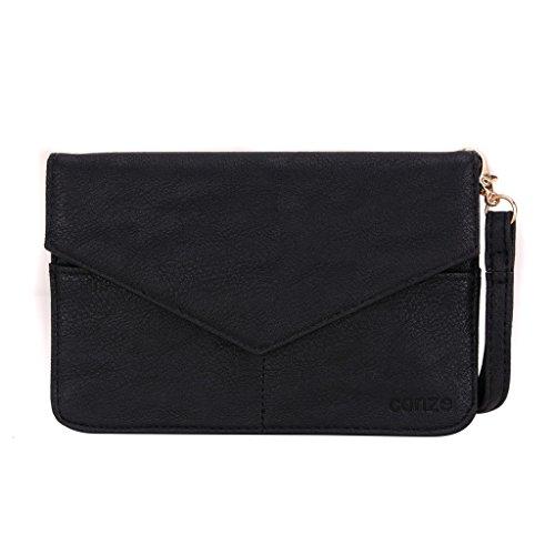 Conze da donna portafoglio tutto borsa con spallacci per Smart Phone per Asus PadFone X/S Grigio grigio nero