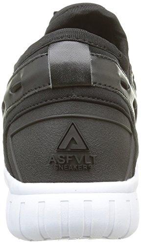 Asfvlt Area Mid, Baskets Basses Mixte Adulte Noir (Black/Dk Shadow)