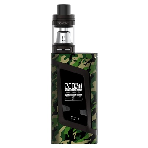 220 Kit (Smok Alien Kit - 220w Temperature Controlled Mod with 2ml TFV8 Baby Tank - 100% Authentic from Premier Vaping (Camouflage) …)
