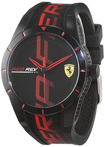 Scuderia Ferrari Orologio Analogico Quarzo Uomo con Cinturino in Silicone 830614