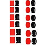 #10: Generic (inbranded) 12 Helmet Accessories Flat Curved Adhesive Mount Pad For ...-51001039MG