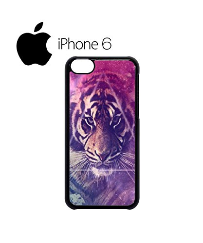 Galaxy Tiger Animal Leopard Pattern Swag Mobile Phone Case Back Cover for iPhone 6 Black Noir