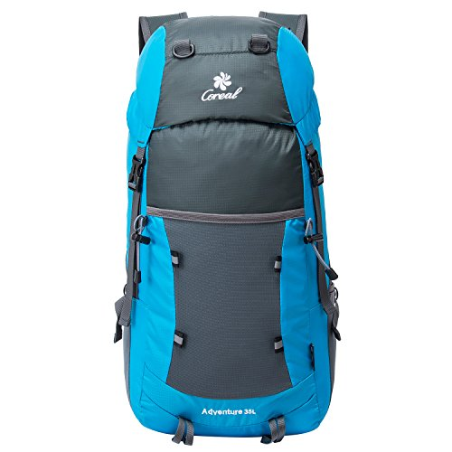 35L Tagesrucksack Faltbare Rucksack mit Wanderrucksack Fassungsvermögen aus Strapazierfähigem Nylon Daypack Unisex Blau