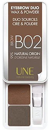 UNE natural beauty - Eyebrow dou, wax & powder, DUO SOURCILS CIRE & POUDRE BROW B02