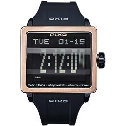 PX-1 ROSEGOLD, Digital Flip Watch