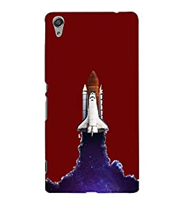 Rocket Shuttle Hard Polycarbonate Designer Back Case Cover for Sony Xperia C6 Ultra Dual
