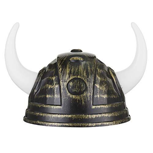 Bluelover toro bue corna cappello viking cappello halloween prop giocattolo per bambini festa in maschera - oro