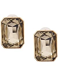 Bellofox Gemmum Earrings Single Yellow Stone Big Size Golden Stud Earrings For Women And For Girls