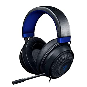 Razer Kraken Gaming Headset 2019: Lightweight Aluminum Frame – Retractable Noise Cancelling Mic – for PC, Xbox, PS4, Nintendo Switch – Blue/Black