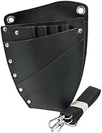 chytaii–Funda bolsa bolsa de almacenaje para peines Pinzas sede de las herramientas de peluquería de piel con cinturón