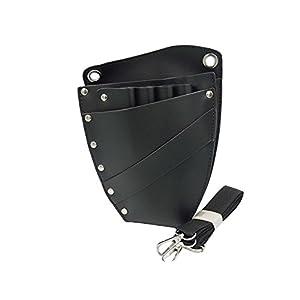 chytaii Schutzhülle Tasche Aufbewahrungsbeutel für Kämme Zangen Organizer Werkzeuge von Frisur Leder mit Gürtel