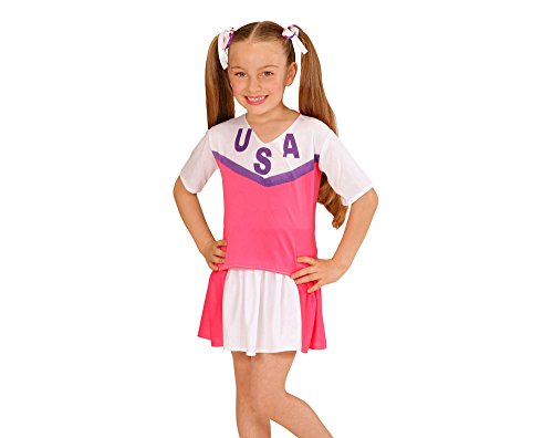 WIDMANN Disfraz Animadora Rosa y Blanco niña - de 4 a 5 años