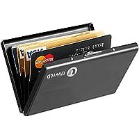 RFID titulaire de la carte de crédit, le cas de la carte UWILD Deluxe en acier inoxydable, IRF Carte de crédit Wallet Purse Holder pour hommes et femmes