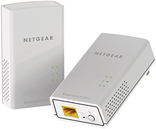 Netgear PL1000-100PES - Kit de adaptadores PowerLine Gigabit (1000 Mbps, 1 puerto Ethernet Gigabit), blanco