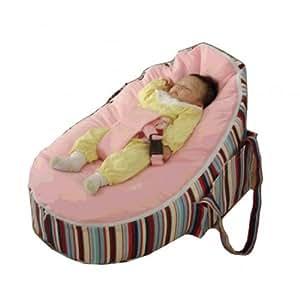 Bigbao - le couffin baby transat rose bt108 - Pouf couffin transat bébé 80x55x40cm rose