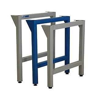 ADB Werkbankfuß T700 mm versch. Höhen in RAL 7035 | 5012, Farbe (RAL):Lichtblau (RAL 5012);Höhe:850 mm