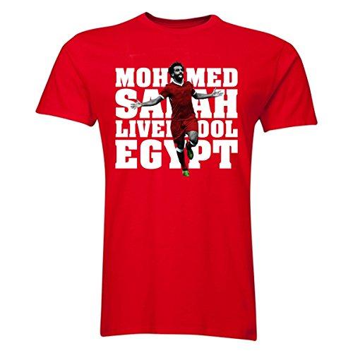 UKSoccershop Mohamed Salah Liverpool Player T-Shirt (Red)