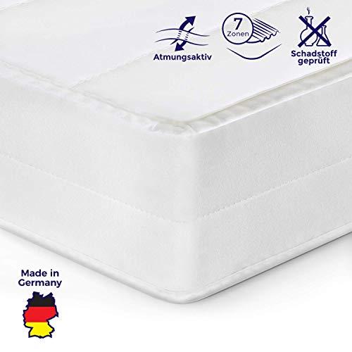 Mister Sandman orthopädische 7-Zonen-Matratze für besseren Schlaf- Kaltschaummatratze H2/H3 mit ergonomischen Liegezonen, Höhe 15cm (140 x200 cm, H2&h3)