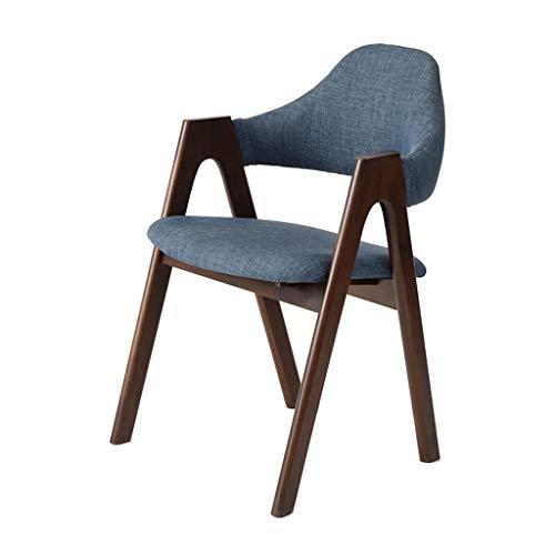 TONG YUE SHOP Computer Stuhl Massivholz Esszimmerstuhl Lounge Stuhl Bürostuhl Kaffeestuhl Nussbaum Farbe Arbeitszimmer Schreibtischstuhl -